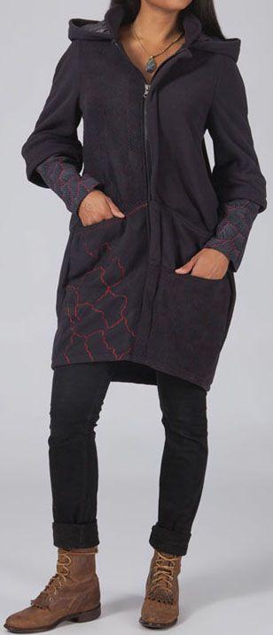 Manteau femme en polaire Ethnique et Original Elder 274580