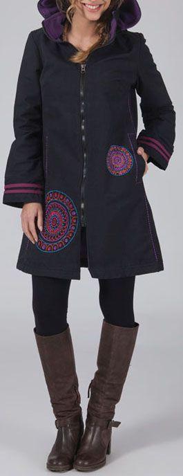 Manteau femme en toile de coton Original et Ethnique Chahine 274567