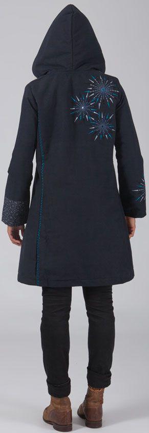 manteau femme en toile de coton original et ethnique elouen. Black Bedroom Furniture Sets. Home Design Ideas
