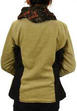 Manteau femme en velours doublé polaire Végaz beige 305151