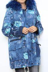 Manteau femme imprimé coloré et original Pany 304237