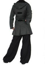 Manteau femme long chogah gris 266380