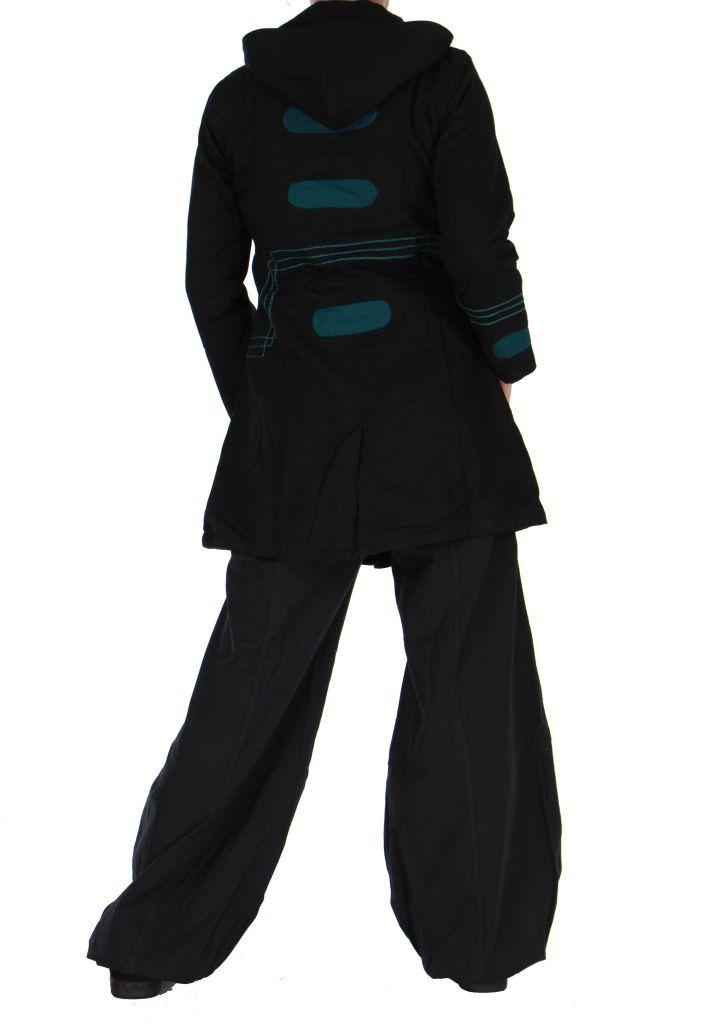 Manteau femme long chogah noir 266378