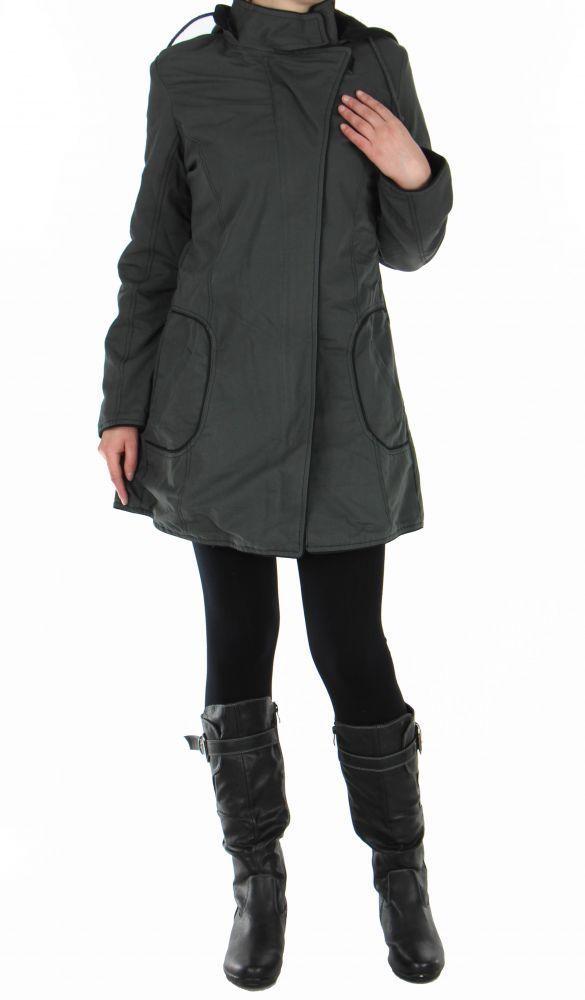 Manteau femme long gris migim 248993