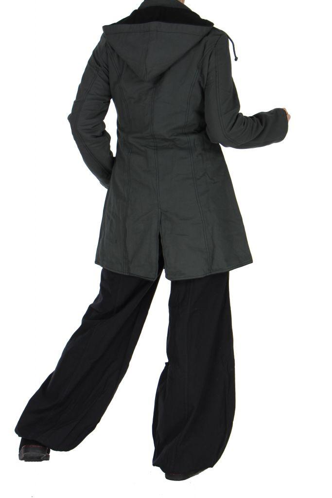 Manteau femme long gris migim 266373