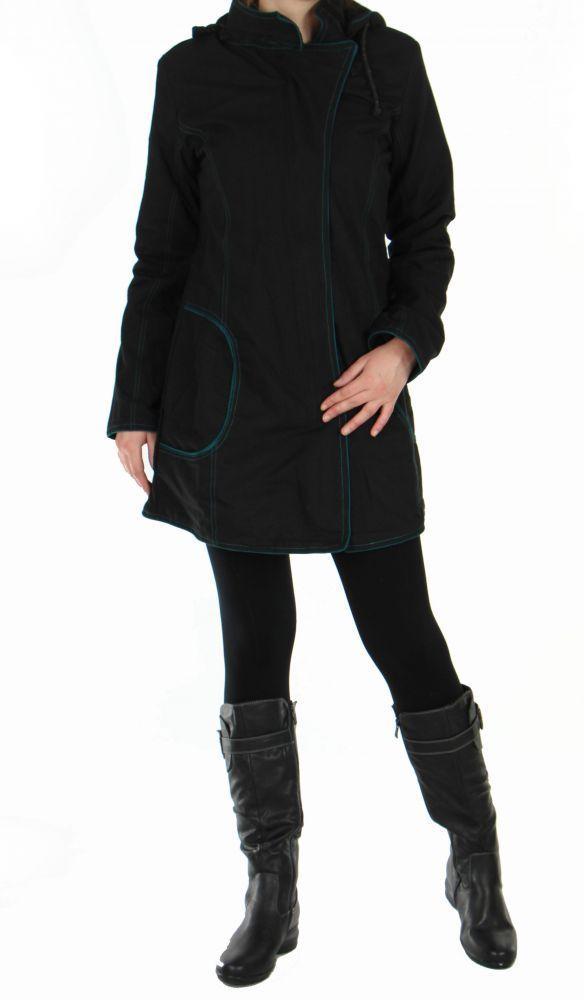Manteau femme long noir migim 248995