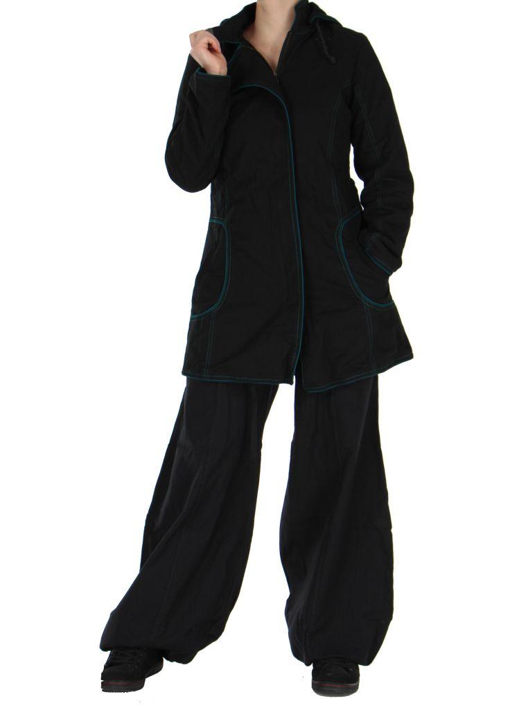 Manteau femme long noir migim 266374
