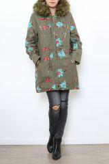 Manteau femme mi-long broderie originale Midan 304253