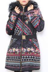 Manteau femme original et coloré look ethnique Carmen 304308