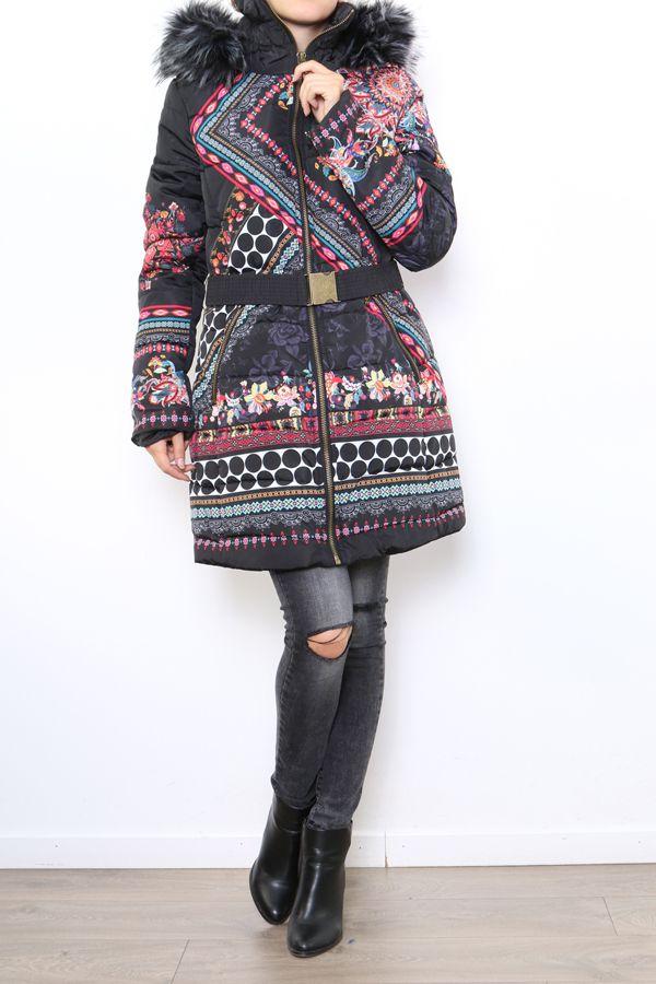 Manteau femme original et coloré look ethnique Carmen 304309