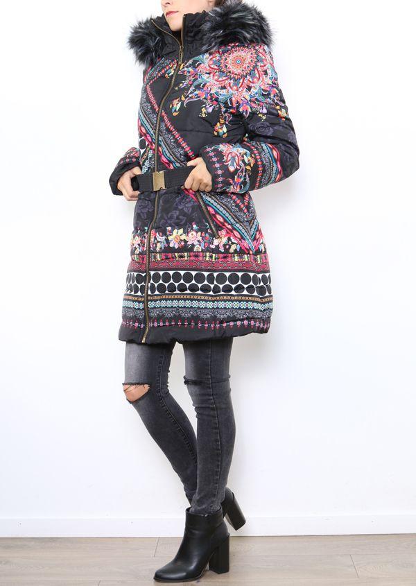 Manteau femme original et coloré look ethnique Carmen 304310
