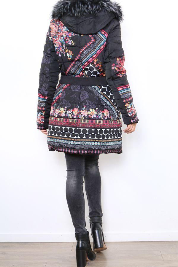 Manteau femme original et coloré look ethnique Carmen 304312