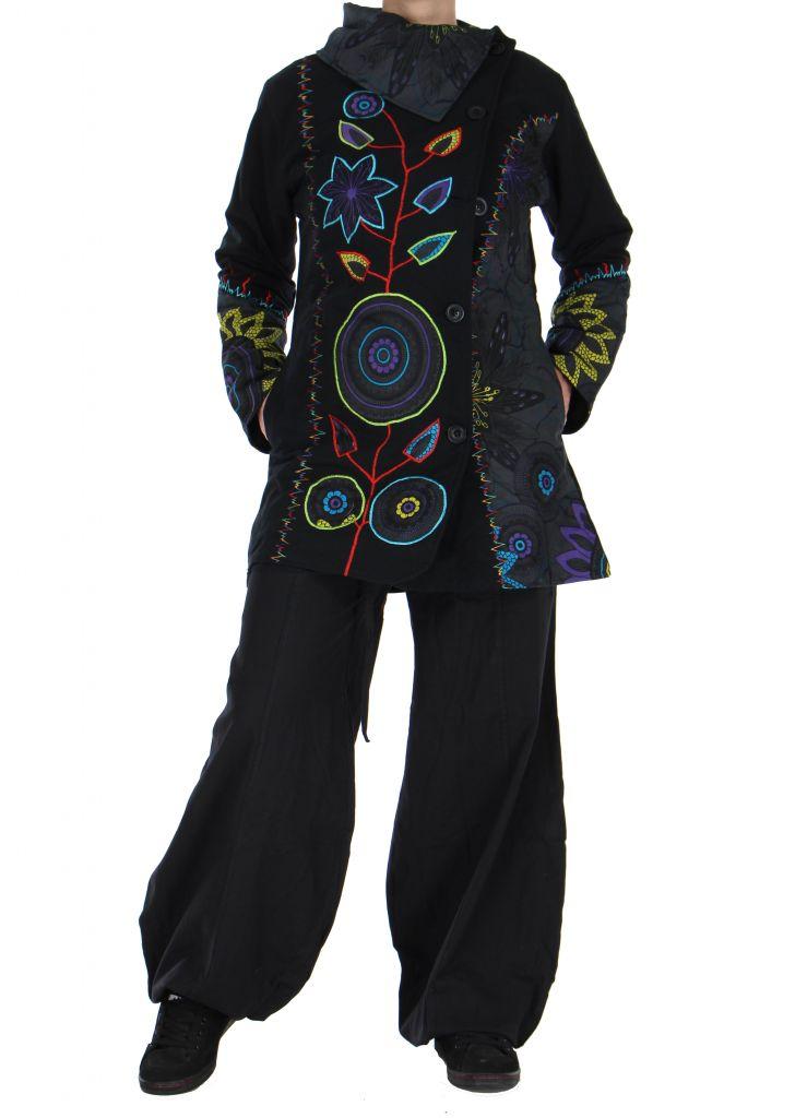 Manteau femme original noir et gris missy 266409
