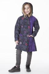 Manteau imprimé ethnique pour enfant avec capuche 287616