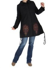 Manteau long noir ethnique maya 265247