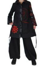 Manteau long noir original blandy 265488