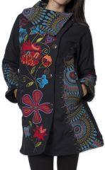 Manteau Original et Coloré pour femme double Polaire Orenok Noir 276271