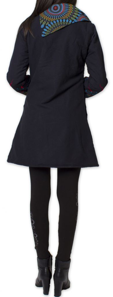 Manteau Original et Coloré pour femme double Polaire Orenok Noir 276274
