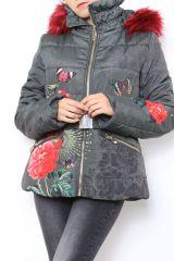 Manteau Parka court femme imprimé original Mendy 304279