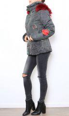 Manteau Parka court femme imprimé original Mendy 304281