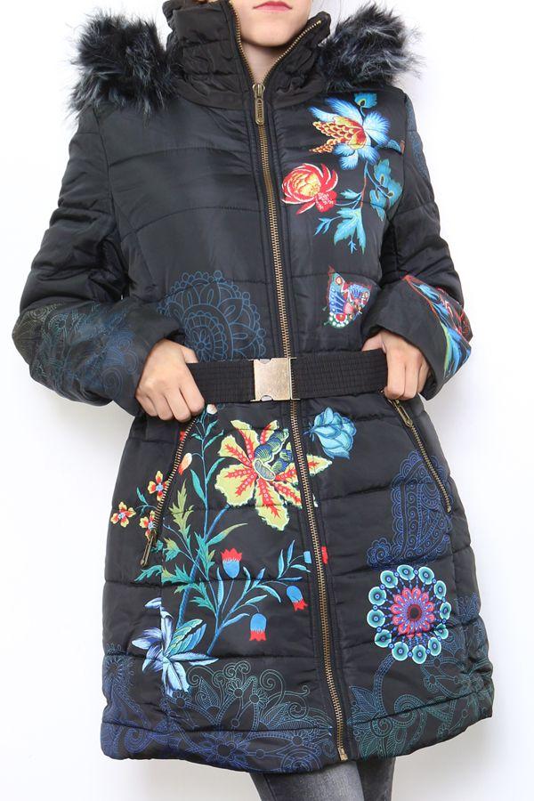 Manteau parka femme long