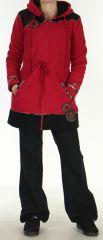 Manteau Polaire pour femme Ethnique et Original Shahyn Fushia 276195