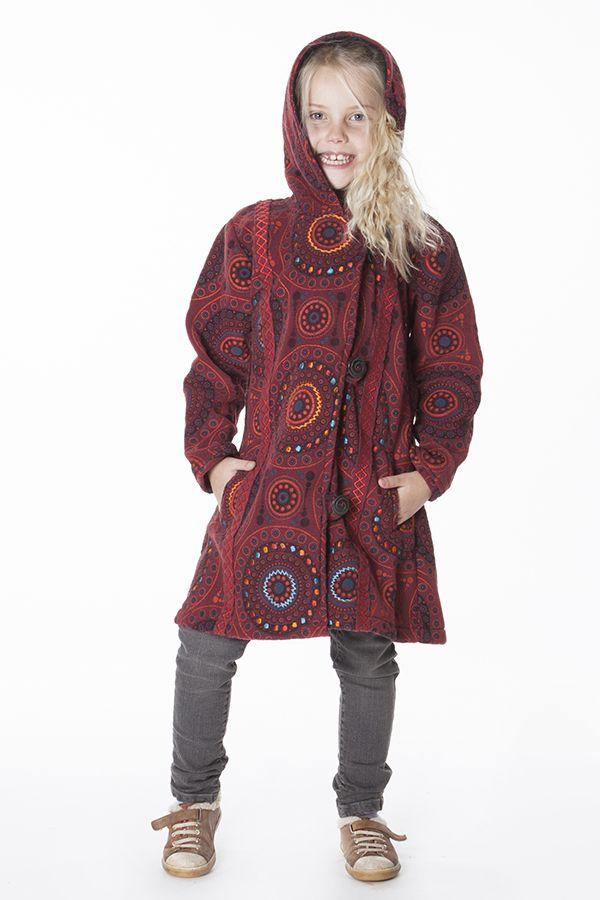 Manteau pour Enfant Etonnant et Ethnique en Polaire Shaunak 287625
