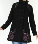 Manteau pour Femme brodé Coloré et Original Antarc Noir 277660