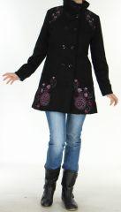 Manteau pour Femme brodé Coloré et Original Antarc Noir 277661