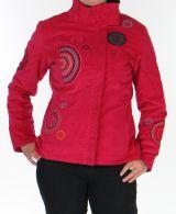 Manteau pour femme court Ethnique et Original Samael Fushia 276163