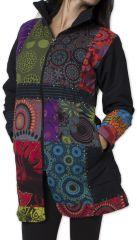 Manteau pour femme Ethnique et Coloré Amazonie Noir 276247