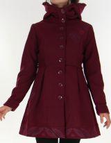 Manteau pour Femme Ethnique et très Chic Apollon Prune 278000