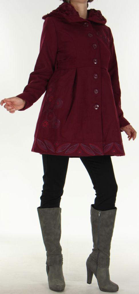 Manteau pour Femme Ethnique et très Chic Apollon Prune 278002