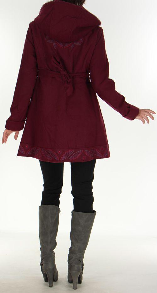 Manteau pour Femme Ethnique et très Chic Apollon Prune 278003