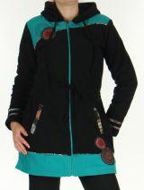 Manteau pour femme Polaire Ethnique et Original Shahyn Noir 276191