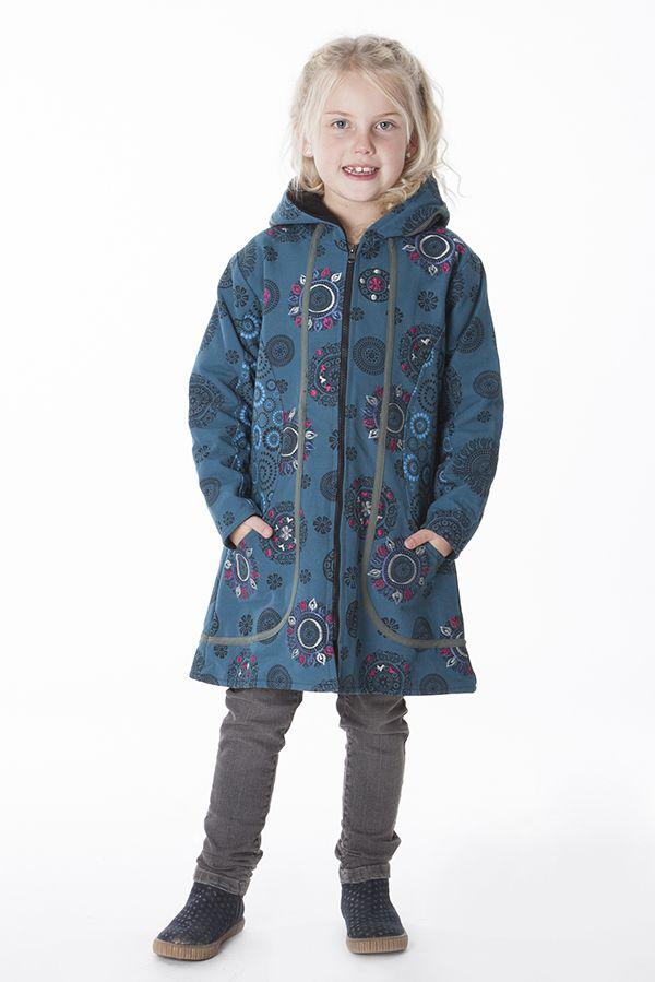 Manteau pour fille original avec des imprimés ethnique 287611