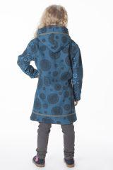Manteau pour fille original avec des imprimés ethnique 287612