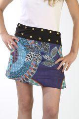 Mini jupe avec taille ajustable et imprimés ethniques originaux Odel 291493