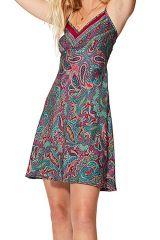 Mini robe légère et fluide femme à fleurs d\'été bohème chic Eira
