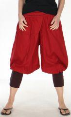 Pantacourt à la tendance Ethnique pour Femme Original Babacar Rouge 278065