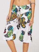 Pantacourt d'été pour femme baba-cool et coloré Quentin 315371