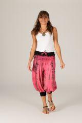 Pantacourt femme d'été tie and dye large Mowgli rose 315271