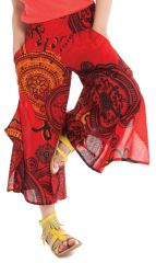 Pantacourt large Original et Coloré pour Fille Baloo Rouge 279880