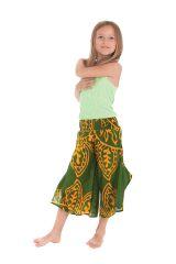 Pantacourt large Vert pour Fille Original et Coloré Baloo 279884