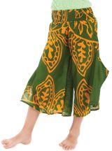 Pantacourt large Vert pour Fille Original et Coloré Baloo 279885