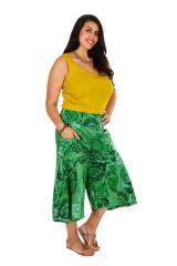 Pantacourt très ample vert en grande taille Paloma 309754