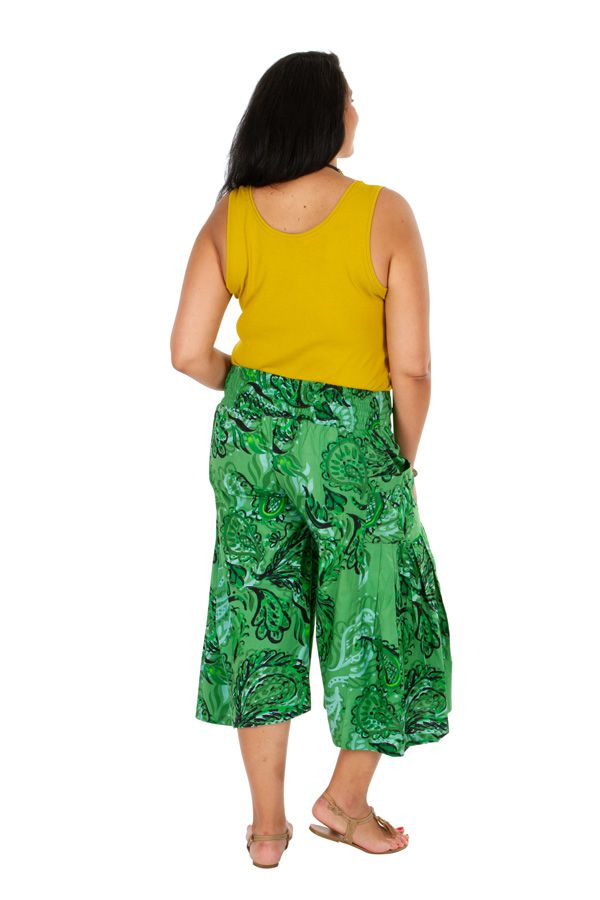 Pantacourt très ample vert en grande taille Paloma 309755