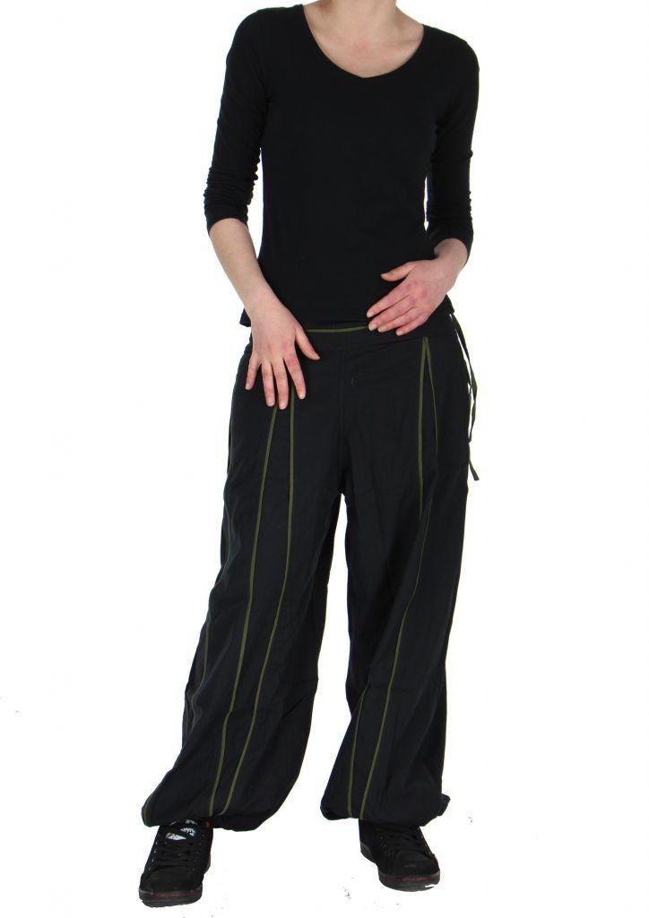 Pantalon aladin mixte noir et kaki Gary 267305