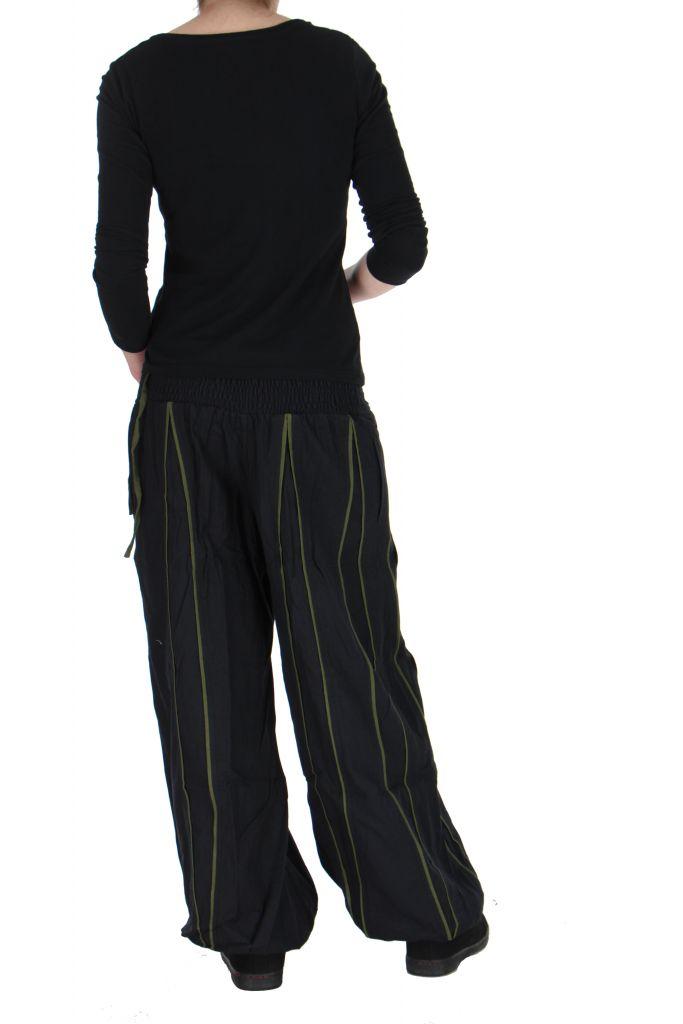 Pantalon aladin mixte noir et kaki Gary 267306