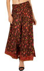 Pantalon ample et fluide avec un imprimé fleuri Fleurs